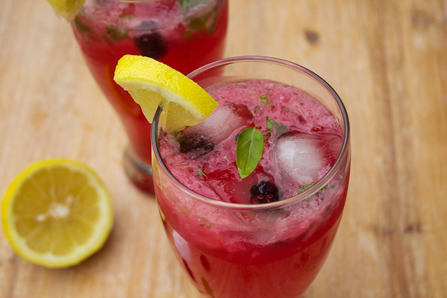 Blackberry Basil Vodka Lemonade